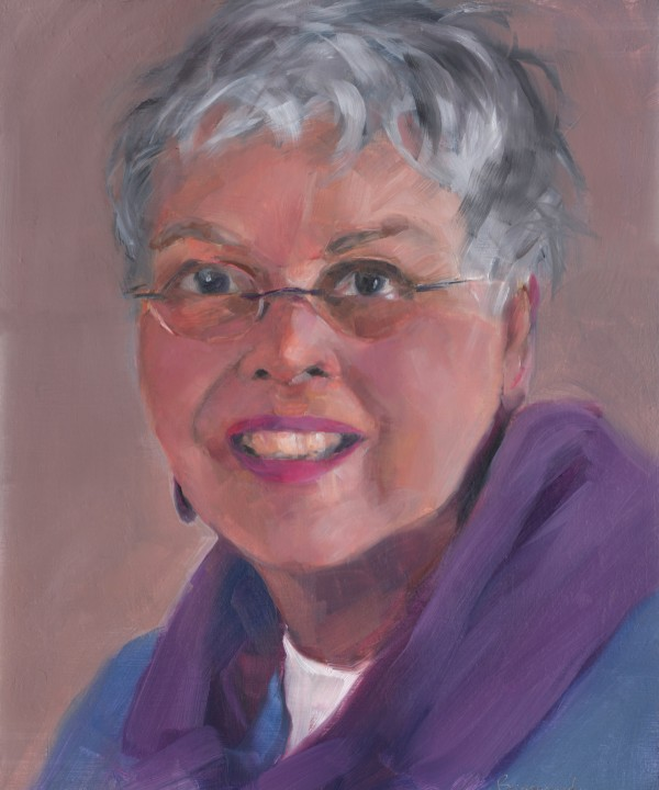 Painting of Janet by Tim Reimensnyder '84