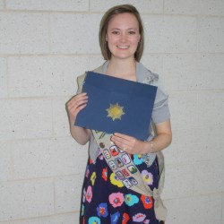 Olivia Duron of Hampden holds her Girl Scout Gold Award, Girl Scouting's highest honor, which she received on June 1 at a ceremony at Hampden Academy.