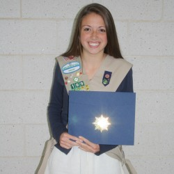 Hampden Girl Scout earns prestigious award for Web site