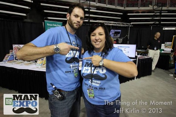 2013: Media Subscriptions Manager Pat Lemieux and Graphic Designer Shelley Sund at the BDN Maine Man Expo