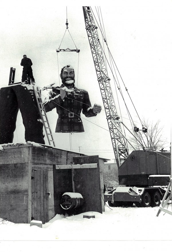 1959: The Paul Bunyan statue is given to Bangor as a 125th anniversary gift