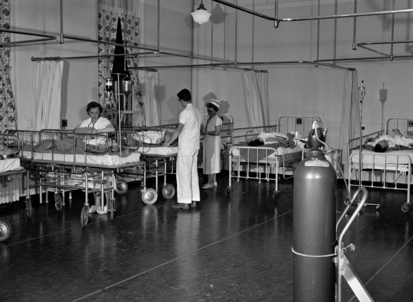 PICTURE FROM THE PAST The Eastern Maine General Hospital opened a new anesthesia recovery room in February 1961 to which all patients were taken from the operating room. This brought highly skilled nursing care to every patient as he was coming out from under anesthesia.