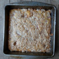 Sour cream coffee cake good for breakfast, dessert