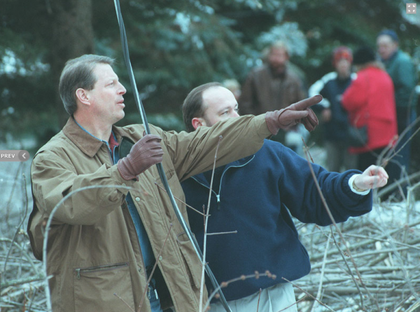 1998: Al Gore observes the impact of the '98 ice storm