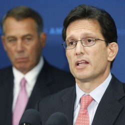 Eric Cantor's empty happy talk