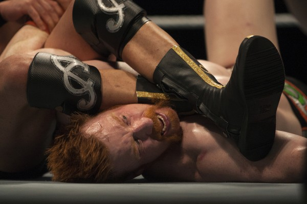 Sheamus is chocked by Alberto Del Rio during WWE Live in Bangor Saturday at the Cross Insurance Center.