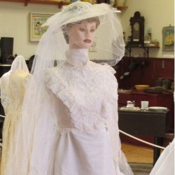 The featured display through August at the Orland Historical Society Museum will be wedding gowns, such as this one, encompassing a century of styles.The gowns are on loan from the ladies of Orland and Bucksport. Among them are one worn by both mother and daughter. Another feature is three generations of gowns from one family. The dates of the gowns range from 1898 to 2002 although not all consecutive decades in between. The Historical Society, located on School House Road in Orland, is open 1-3 p.m. first and third Fridays, June through August. For information about museum tours or to make an appointment call 469-2476, 469-1131 or 469-6817.