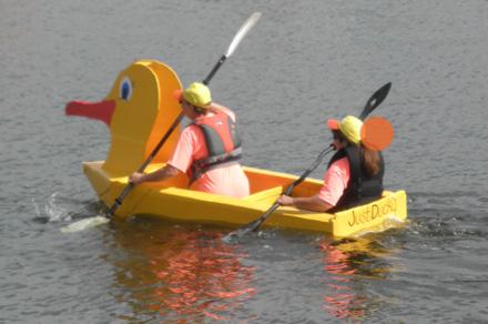 The Belfast Harbor Fest Cardboard Boat Challenge