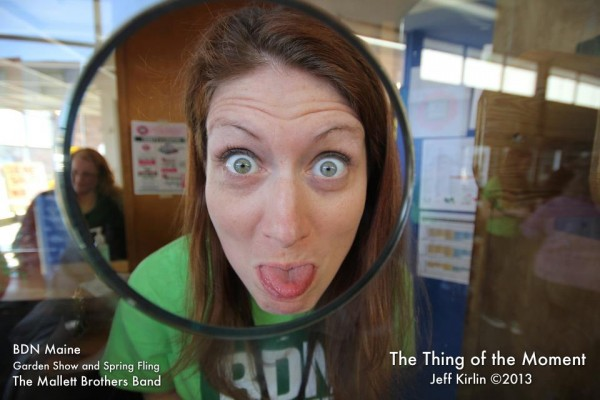 2013: Graphic Designer Michele Dwyer at the BDN Maine Garden Show and Spring Fling