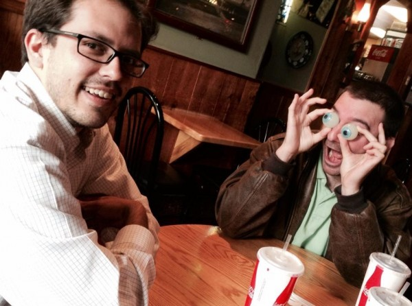BDN southern Maine reporters Darren Fishell and Seth Koenig.