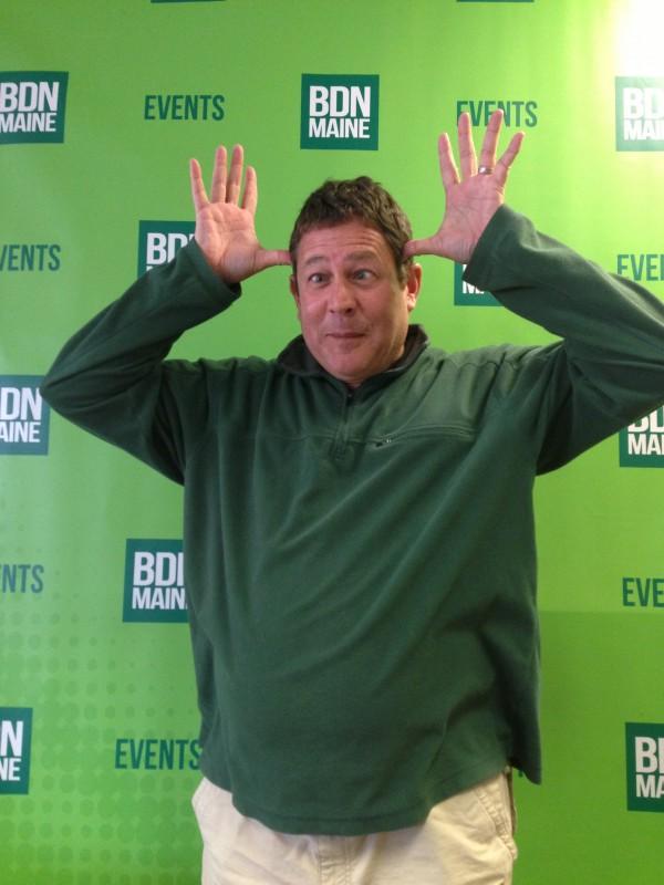 2013: Outdoors Editor John Holyoke giving his best moose impression.
