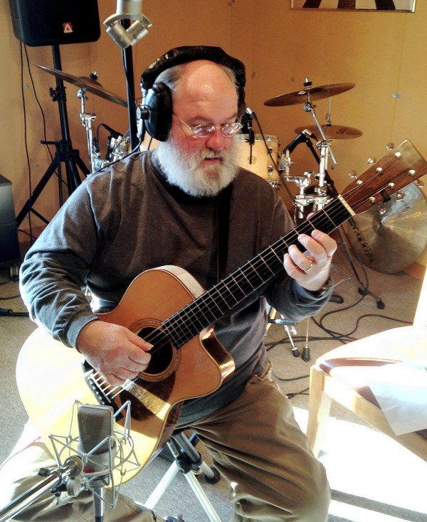 Bob Bowman recording at Hungry Goat Studio, Bar Harbor