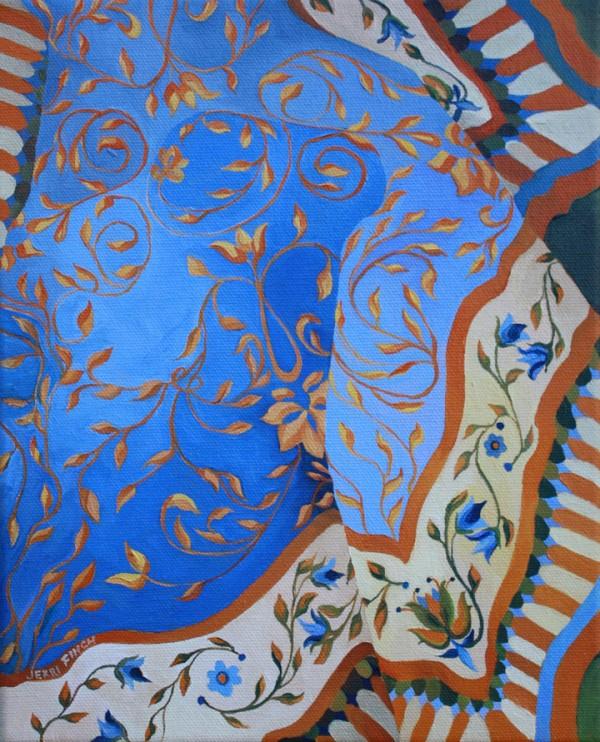 Blue Fabric by Belfast artist Jerri Finch