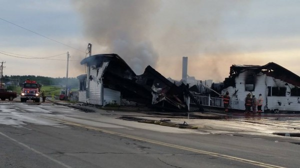 Helen's Restaurant in Machias was gutted by fire early Friday morning. Crews from several area towns responded to the blaze at the iconic eatery.