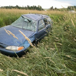 Caribou man charged after crashing car he allegedly took without permission