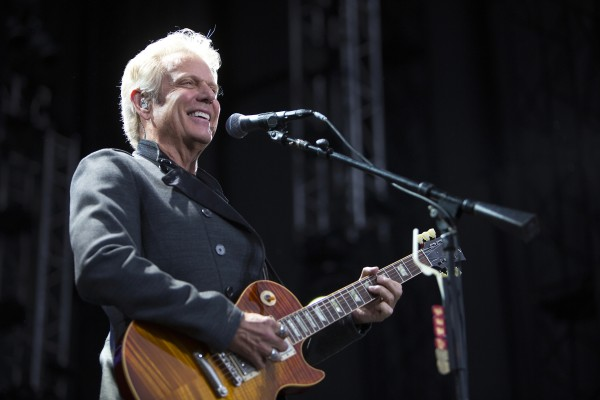 Don Felder performs during the Styx, Foreigner and Don Felder show Saturday at the Darling's Waterfront Pavilion in Bangor.