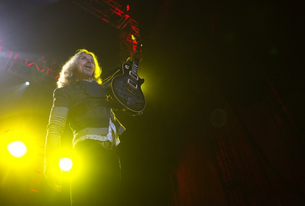 Styx's Tommy Shaw performs during the Styx, Foreigner and Don Felder show Saturday at the Darling's Waterfront Pavilion in Bangor.