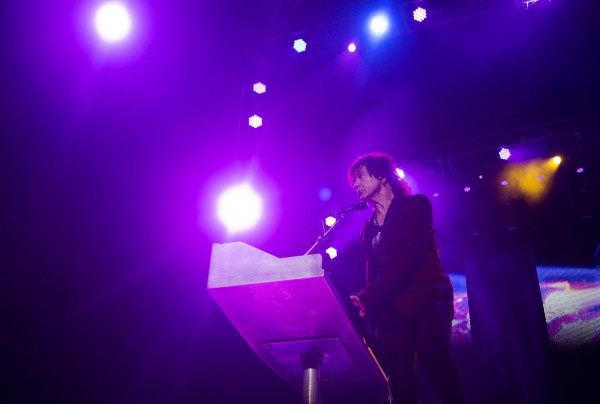Styx's Lawrence Gowan performs during the Styx, Foreigner and Don Felder show Saturday at the Darling's Waterfront Pavilion in Bangor.