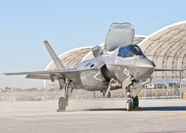 Third Marine Aircraft Wing's first F-35B arrives on the Marine Corps Air Station Yuma flightline, in Yuma, Arizona, in this U.S. Marine Corps handout photo taken November 16, 2012.