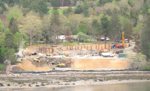 Construction crews began work this spring on the foundation for billionaire Steven M. Rales' new home on Somes Sound in the Mount Desert Island village of Northeast Harbor. Rales is proposing to build a mansion on the site with 18,000 square feet of living space.