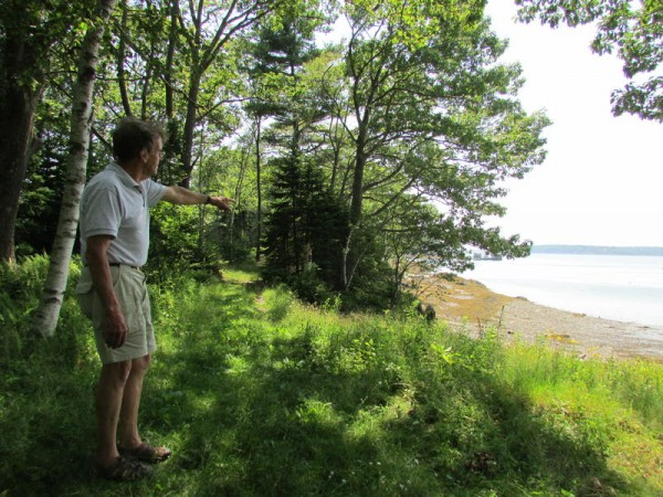Roger Berle, of Friends of Clapboard Island, is an advocate for the Maine Coast Heritage Trust, which is raising funds to purchase the 17 acres that make up the island's northeast portion off Falmouth.