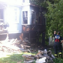 Investigators say two young boys set fire Monday in basement of Bath home