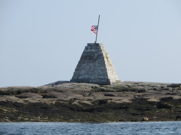 Monument on East Bunker Ledge off the coast of Mount Desert Island.