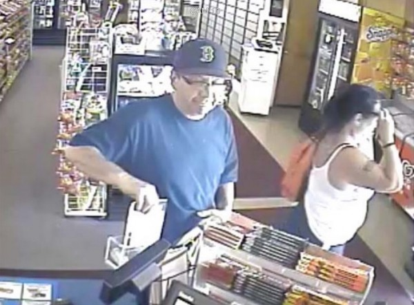 The Penobscot County Sheriff's Office is looking for two people in connection with the theft of a cash donation box at C&K Variety in Hermon.