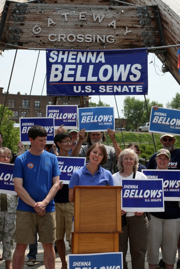 "Democratic U.S. Senate candidate Shenna Bellows launched her 350-mile ""Walk Across Maine for Jobs and the Economy"" on Sunday, July 20, with a noon kickoff press conference in Houlton."