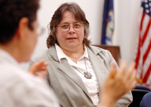 Anne Perry of Calais talks to a group in Augusta in 2008 while serving as her district's representative to the Maine House of Representatives.