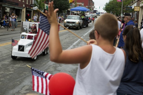 Despite the chance of rain, many people came out to watch the annual Fourth of July parade Friday.
