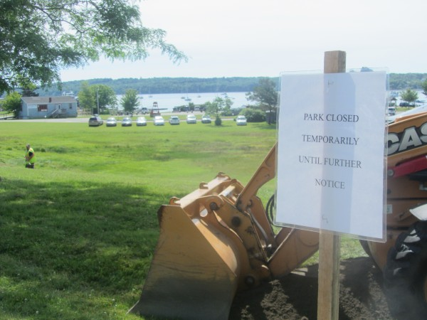 Rockland's Snow Marine Park was closed to the public on Thursday until further notice.