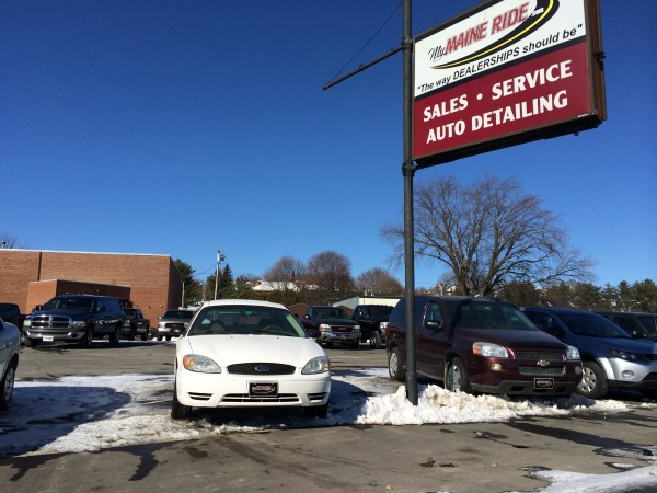 The used car lot at My Maine Ride in Bangor was about half full on Feb. 12, 2014, after owner Glenn Geiser, of Brewer, had his license to inspect vehicles revoked.