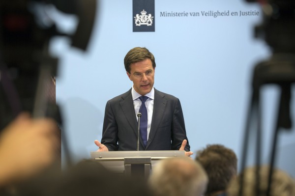 Netherlands' Prime Minister Mark Rutte speaks at a news conference at The Hague July 18, 2014.