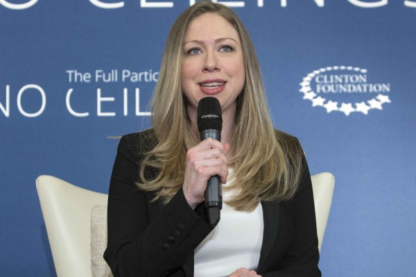 Chelsea Clinton speaks in A No Ceilings Conversation at Lower Eastside Girls Club in New York on April 17, 2014.