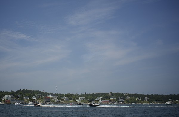 Lobster fisherman and boat enthusiasts compete during the 2014 lobster boat races on Sunday in Stonington.