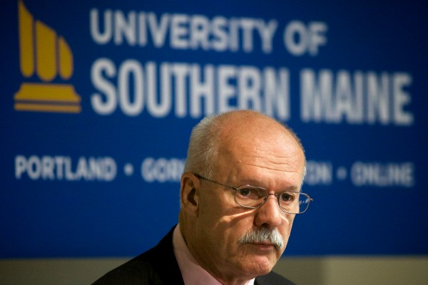 David Flanagan, the retired CEO of Central Maine Power Co. and a former University of Maine System trustee, was named the interim president at the troubled University of Southern Maine in Portland on Wednesday.