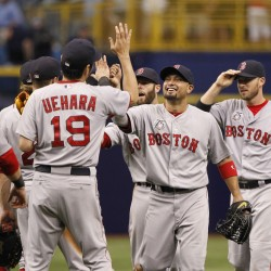 Boston's Ortiz hits 400th HR; Moss helps A's complete sweep of Red Sox