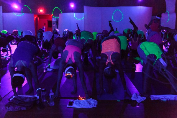 Black light yoga at Maine Yoga Fest Saturday.