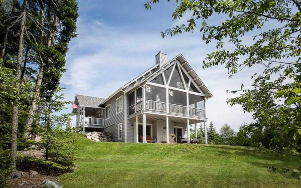 Katahdin Cedar Log Homes in Oakfield launched a new line, Arborwall Solid Cedar Homes, in early 2014. The custom-built log homes feature a more contemporary style than the traditional log home.