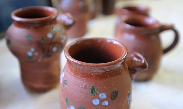 Pottery, handmade by Sarah Delaney of Livermore, is for sale at the 101 Miles of Maine store in Winterport.