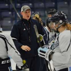 Newlywed UMaine coaches enjoying marriage, hockey