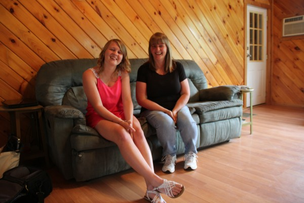 Ashley Hinkley, a graduate of Brewer High School and recipient of the Mitchell Scholarship, sits with her mother, Tina Hinkley.
