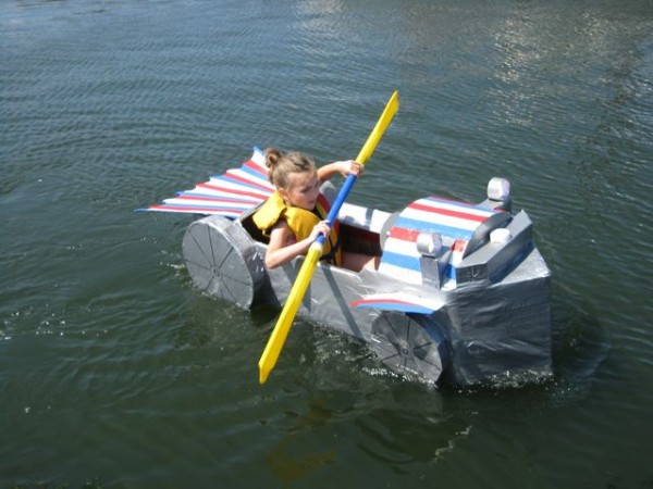 Watercraft like this will participate in the 2-14 Lincoln Homecoming Festival. The festival starts Thursday, July 17, 2014 and ends on the following Sunday.