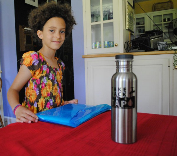 Nina Chase, a rising fourth grader at Wentworth Intermediate School in Scarborough, gathered more than 500 signatures before the end of the school year in favor of banning plastic water bottles at the new school.