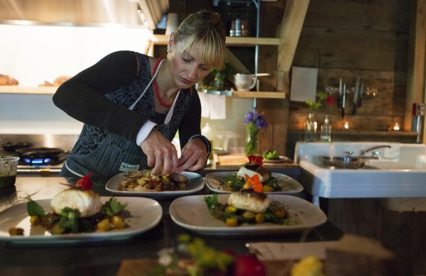 The Lost Kitchen, 22 Mill Street, Freedom, chef and owner Erin French prepares meals during dinner Wednesday.