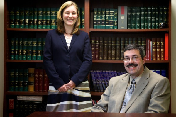 Taylor Kilgore (left) and Clinton Boothby are lawyers at Boothby Perry LLC in Turner.