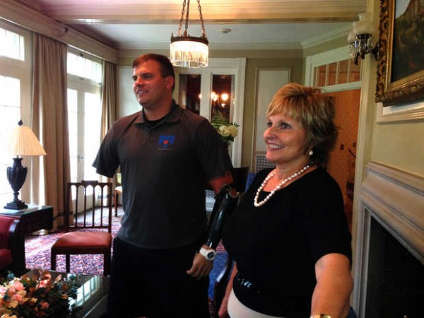 Ann LePage, Maine's first lady, announced she will skydive Aug. 9 to raise money for the Northern Maine Veterans Museum & Community Center. She will jump alongside veteran Travis Mills, who will make his second jump since his 2012 injuries in Afghanistan that took both arms and both legs.