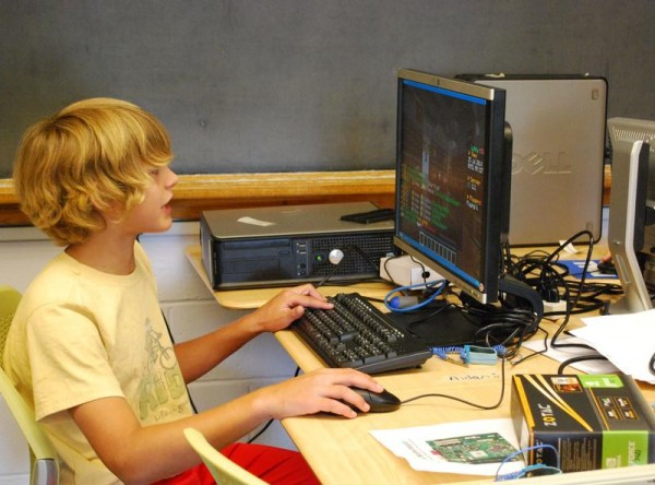 Aidan Carlisle of South Portland attended the Maine Robotics computer camp at the University of Southern Maine as a birthday gift from his grandmother.