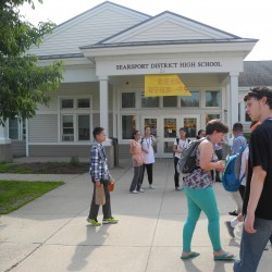 Searsport students collect 5,000 pounds of books